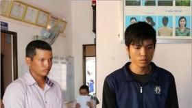 被拘押的2名嫌犯堅貴(左圖)和黎懷恨。(圖源:茶榮公安廳)