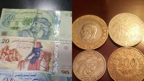 突尼西亞貨幣。(圖源:互聯網)