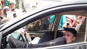 肇事司機阮文國對毒品檢測呈陽性反應。(圖源:VOV)