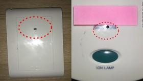韓國警察廳的網絡調查部門在一份聲明中表示,攝像機被隱藏在電視機頂盒、插座孔、吹風機架內,偷拍的內容被網上直播。 (圖源:CNN)