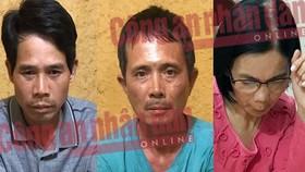 被拘押並起訴的另3名嫌犯范文勇(左起)、琴文章及裴氏金秋。(圖源:人民公安報)