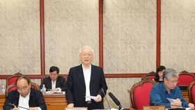 總書記、國家主席阮富仲(中)主持會議並發表講話。(圖源:智勇)