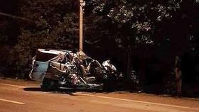 事故現場,3人當場死亡。(圖源:MXH)