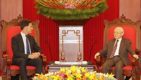 總書記、國家主席阮富仲接見荷蘭首相馬克‧呂特。(圖源:越通社)