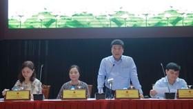 文體與旅遊部辦公廳主任、發言人阮太平在新聞發佈會上發言。(圖源:世公)