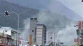 據中國地震台網測定,18日13時01分,台灣花蓮縣海域(北緯24.02度,東經121.65度)發生6.7級地震,震源深度24公里。(圖源:CNA)