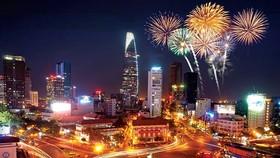 本市3地點燃放煙花迎南方解放與祖國統一44週年。(示意圖源:互聯網)