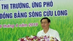 政府副總理王廷惠在論壇上發表講話。(圖源:互聯網)