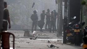 斯里蘭卡首都一教堂附近發生第九起爆炸。(圖源:路透社)