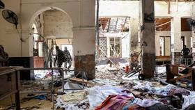 斯里蘭卡科倫坡4月21日聖-安托尼教堂遭襲現場。(圖源:AFP)