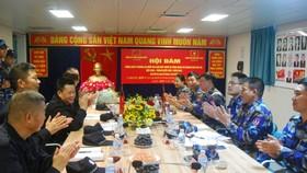 越中兩國海警舉行會談,就2019年北部灣漁業聯合檢查計劃和方案達成共識。(圖源:曰尊)