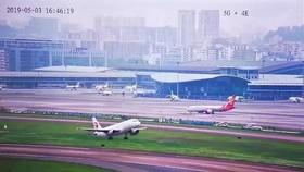 深圳機場利用 5G+4K 直播飛機起降。(圖源:深圳機場)