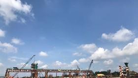 本市加快治水項目施工進度。(圖源:何梅)