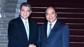 阮春福總理接見賽夫丁‧阿都拉外長。(圖源:越通社)