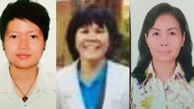涉案的3名嫌犯范氏天霞(左)、黎富幸(中)及鄭氏紅花。(圖源:警方提供)
