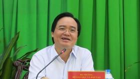 教育與培訓部長馮春迓在會議上發言。(圖源:陲莊)