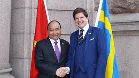 阮春福總理會見瑞典議會議長安德烈亞斯‧諾倫。(圖源:VGP)
