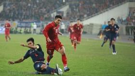 越南U23足球隊比賽中。(圖源:互聯網)