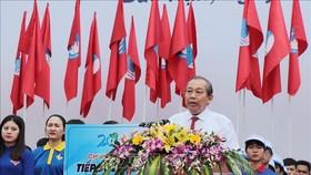 政府常務副總理張和平在儀式上致詞。(圖源:越通社)