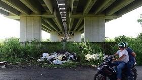 本市-隆城-油曳高速公路經守德郡長盛坊三多街路段的橋下空間成為垃圾場。