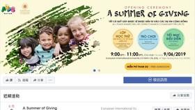 """""""一個給予的夏天""""(A Summer of Giving)活動的宣傳海報。(圖源:Arts Nation臉書粉絲專頁截圖)"""