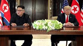 美國總統特朗普與朝鮮最高領導人金正恩於去年6月12日在新加坡舉行了歷史性會面。(圖源:路透社)