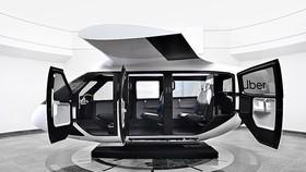 Uber空中的士機身主要是白色,設計別具未來感。(圖源:互聯網)