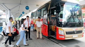 新山一機場-頭頓市巴士線的巴士。
