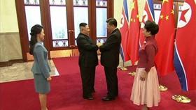 習近平夫婦與金正恩夫婦2019年1月10日在北京會面。(圖源:AFP)