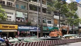 第六郡平西市場在塔梅街搭建的臨時攤位已於近日正式拆除。