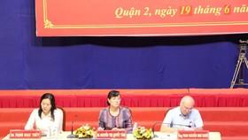 市國會代表團於昨(19)日上午與第二郡選民接觸。(圖源:豐裕)