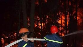 昨(29)日下午在春鴻鄉的餘火再次燃燒起來,各職能力量仍在撲滅中。(圖源:互聯網)