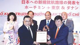 阮春福總理見證越捷兩條日本新航線啟動。