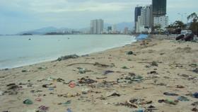 芽莊海灘上的垃圾。(圖源:互聯網)