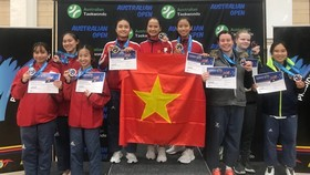女子隊際標準拳套,越南奪得金牌。(圖源:互聯網)