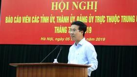 中央宣教部長武文賞在會議上發言。(圖源:Q.S)