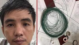 殺害前妻嫌疑人譚明添(左圖)與查收到的作案工具。(圖源:警方提供)