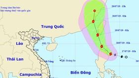 圖為丹娜絲(Danas)颱風移動方向。(圖源:國家水文氣象中心)