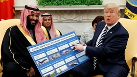 特朗普堅持要向沙特售武,但美國國會眾議院通過3項決議,意在阻止特朗普政府對沙特阿拉伯等國軍售。(圖源:AP)