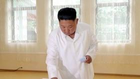 朝鮮國務委員會委員長金正恩21日參加地方人民會議代議員選舉投票。(圖源:朝中社)