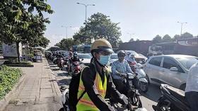 第二郡童文貢街交通於高峰時段嚴重堵塞。