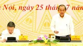 政府常務副總理張和平(右)主持會議並發表講話。(圖源:越通社)