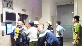 消防警察解救在新富郡Sacomreal公寓的被困者。