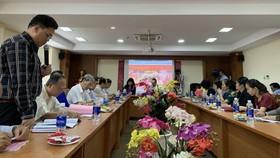 仁華(ManEdu)國際華語學校校長陳志明在會上發言。