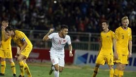 源煌為越南隊扳回一球。(圖源:互聯網)