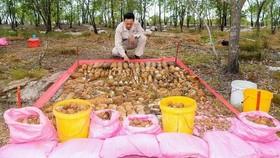 MAG 已安全地處理廣治省兆豐縣兆山鄉安琉村存放1414枚未引爆彈頭和引爆器的兩個地下彈藥庫。(圖源:MAG)