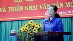 市委副書記、市人民議會主席阮氏麗出席會議並發表指導意見。(圖源:市黨部新聞網)