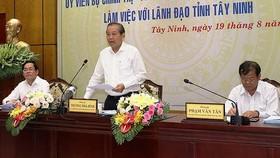 政府常務副總理張和平(中)在會上發表講話。(圖源:越通社)