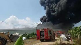 消防車隊趕抵火警現場。(圖源:越通社)
