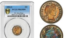 1894-S巴伯10美分硬幣,極為稀有。(圖源:互聯網)